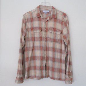 Urban Outfitters Rust Plaid Flannel Shirt